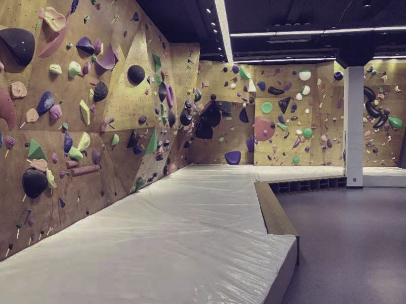 The Bouldering section of Rock Lab, a climbing gym in Xi'an, China
